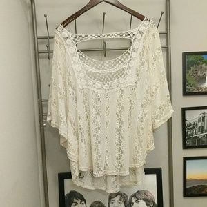 vivid importers Tops - Lace white top
